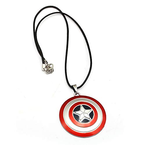 Mct12 - Movie Captain America Necklace Superhero Shield Pendant Logo Fashion Jewelry For Superhero Fans Men Women - Shield Pendant Logo