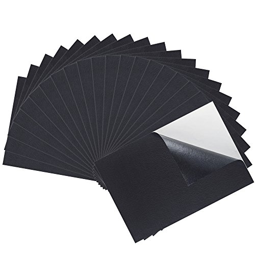 Water Resistant Material - Caydo 20 Pieces Black Adhesive Back Felt Sheets Fabric Sticky Back Sheets, 8.3 by 11.8