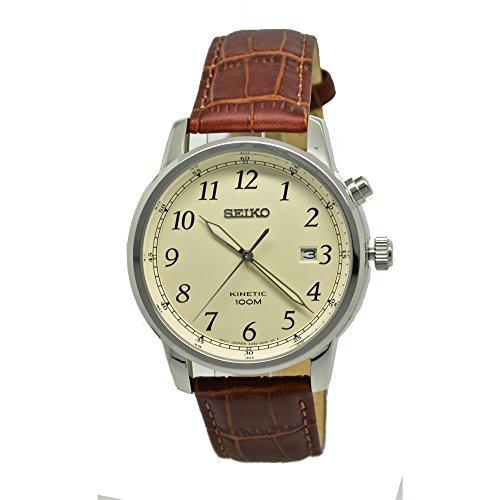 Seiko Kinetic Cream Dial Men's Watch SKA779