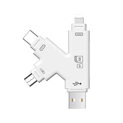 Amazon Com 4 In 1 Portable Micro Sd Card Reader Apple Iphone Ipad