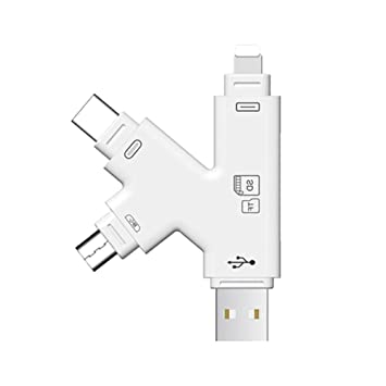 amazon 4 in 1 portable micro sd card reader apple iphone ipad Media SD to USB Adapter image unavailable