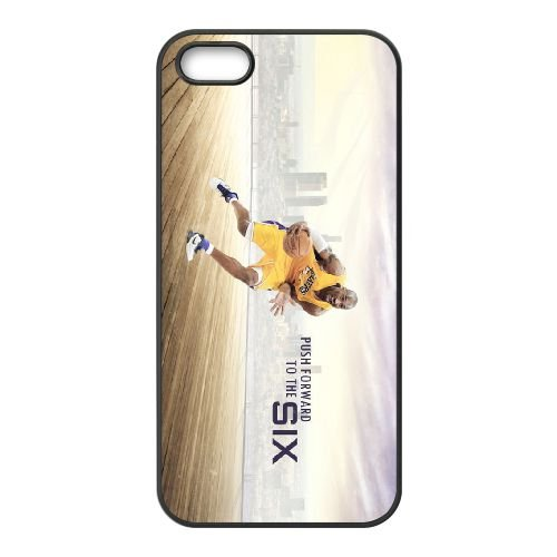 Kobe Bryant Push Forward coque iPhone 5 5S cellulaire cas coque de téléphone cas téléphone cellulaire noir couvercle EOKXLLNCD25356