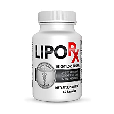 Lipo Rx- Diet Pills for Extreme Weight Reduction- Fat Burner and Thermogenic Weight Loss Supplement- 80 Count Bottle