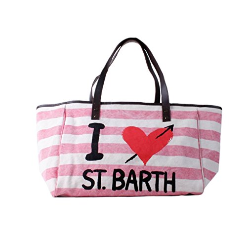 Borsa Mc2 Saint Barth helene B strb21 stripe tropez rosa rigato