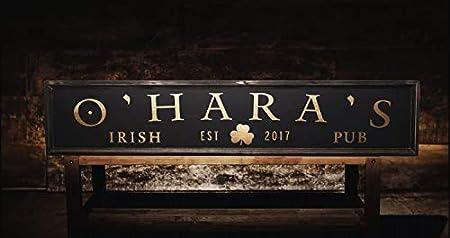 Personalized Metal Bar Decor Patricks Day Sign Irish Flag Bar Decor Custom St Quality Aluminum Decoration Sign Irish Pub Name Bar Sign