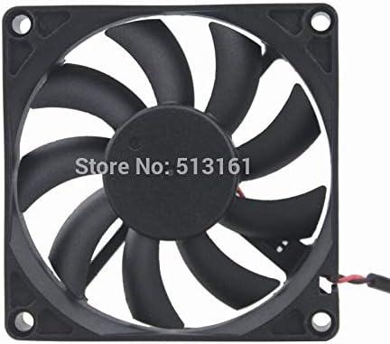 2 Pieces Gdstime 8cm 8015 80x80x15mm USB Connector 80mm Computer Case DC Cooling Fan 5V
