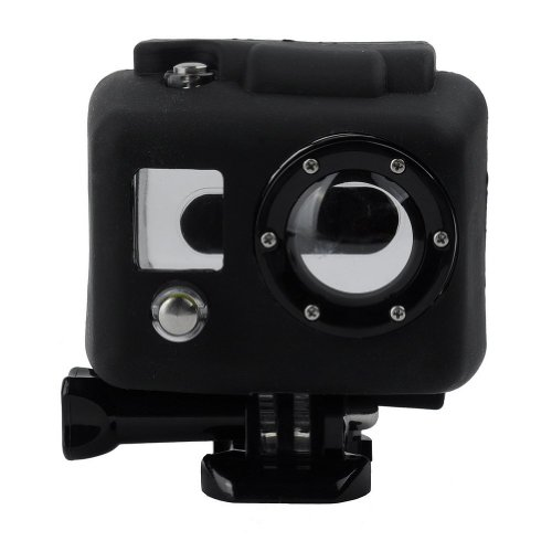 Protective Hooded Silicon Cover Case for GoPro HERO / HERO2 Black