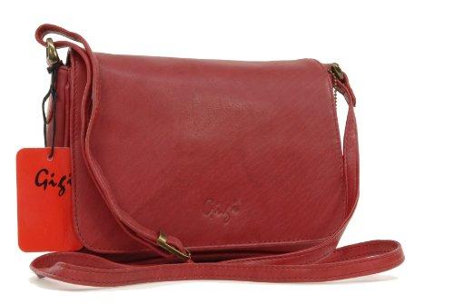 GIGI - OTHELLO 14578 - Bolso organizador con solapa - Cuero - Pequeño Rojo