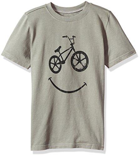 Bmx Kids T-shirt - Life is Good Boys Tee Bmx Smile, Slate Gray, Large