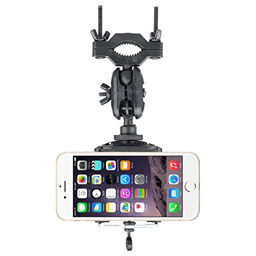 Linkstyle Car Phone Holder Rearview Mirror Mount Stand Holder for iPhone 7/7Plus/6s/6Plus/5S, Galaxy S5/S6/S7/S8, Google Nexus, LG, Huawei and More Black