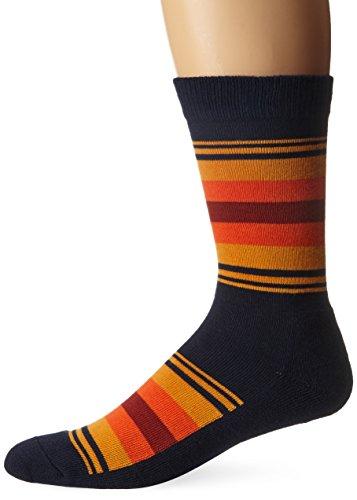 Pendleton National Park Cotton Crew Socks, Grand Canyon Stripe - Navy, Large (Fits Men's Shoe Size 9-12/ Women's Shoe Size 10-13) - Medium Canyon Stripe
