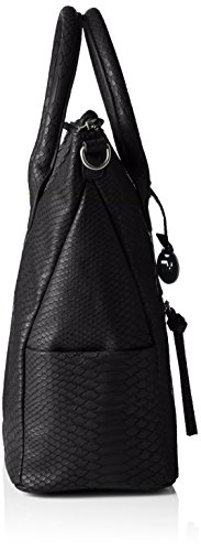Marco Tozzi 61017, Bolsa de Asa Superior para Mujer, 42x34x16 cm (B x H x T) Negro (002)
