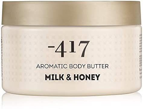 417 Body Butter Milk & Honey, Smoothing Moisturizer - Shea Butter and Dead Sea Salt Cosmetics, Aromatic Body Butter for Dry Skin