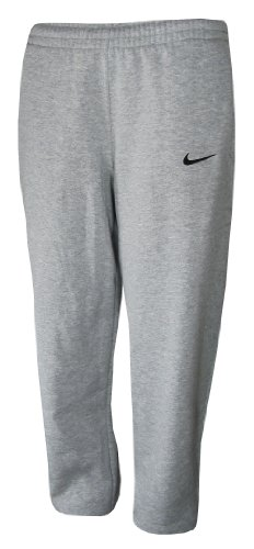 Nike Mens Core Open Bottom Fleece Pants Grey - Pant Mens Fleece Nike