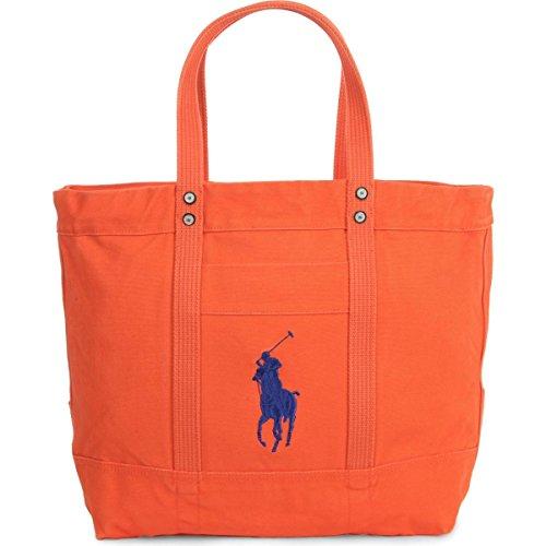 Polo Ralph Lauren Camo Canvas Big Pony Tote (Bedford orange) (Handbags Ralph Lauren Polo)