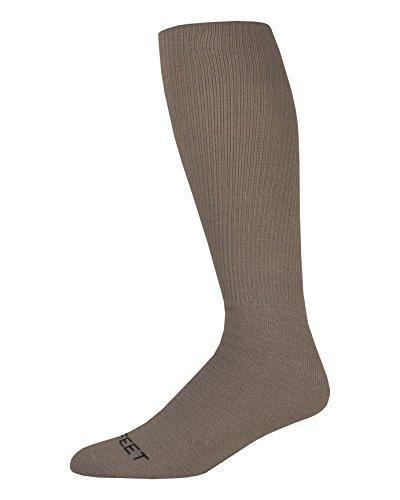 Pro Feet Multi-Sport Cushioned Acrylic Tube Socks, Silver, Large/Size 10-13