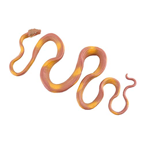 (Livoty Realistic Rubber Fake Snake Trick Props Animal Terrifying Stretchy Mischief Replica Reptiles Gag Toy Gift Idea Carnival Game Prizes Science& Nature Eco-Friendly Snakes Toy Halloween Prop Joke)