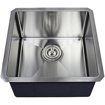 ariel 18   x 18   single bowl undermount kitchen sink ariel   18 inch stainless steel undermount single bowl kitchen      rh   amazon com