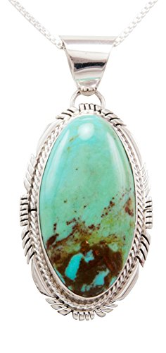 Royston Turquoise Pendant (Navajo Native American Royston Turquoise Pendant Necklace by)