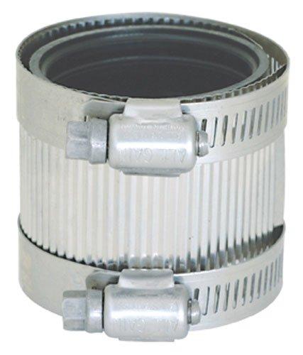 """Eastman 43403 No-Hub Coupling, 2 x 2.5 x 2.7"""", Silver"""