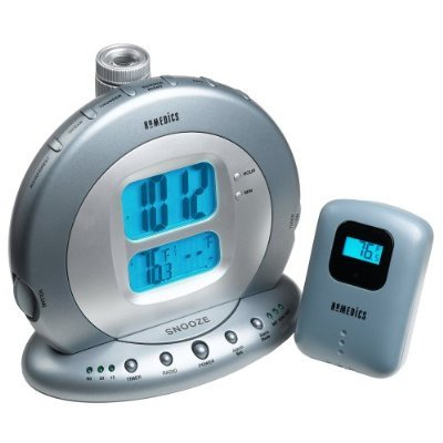 HoMedics SS-5000 Sound Spa Projection Clock Radio with Atomic Clock and Indoor/Outdoor - Projection Radio Clock Homedics