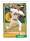 Bob Welch autographed baseball card (Oakland Athletics) 1992 Topps #285 Ball Point Pen - Autographed Baseball Cards