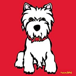 Marc Tetro Westie on Red – Print