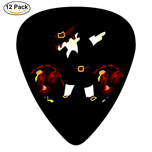 Funny Thanksgiving Dab Medium Celluloid Guitar Picks Music for Boyfriend 12-Pack Black