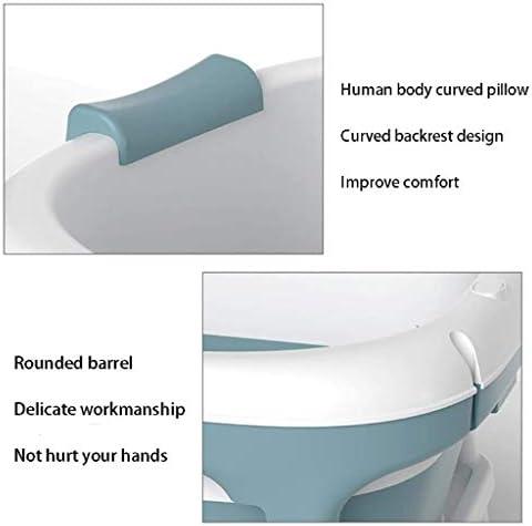 アダルト折り畳み式のバスタブアダルトポータブルバスタブ大型折りたたみプラスチックアダルトバスタブ大型プラスチックバスタブシャワー136x62x52cm (色 : Blue)