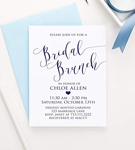 Bridal Brunch Shower Invitations, Brunch Bridal Shower Invitations, Bridal Shower Brunch Invitations, Your choice of Quantity and Envelope Color]()