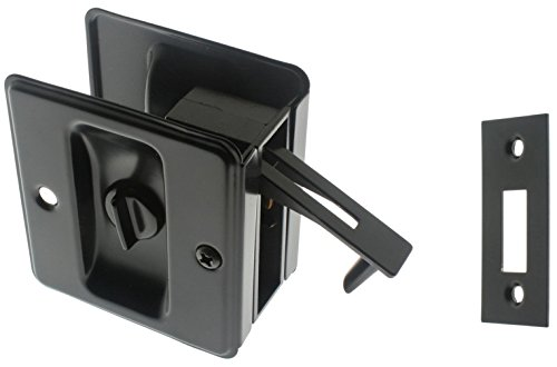 idh by St. Simons 25411-019 Premium Quality Solid Brass Pocket Privacy Door Pull, Matte Black by IDH by St. Simons