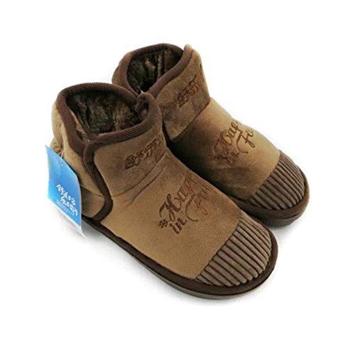Le package complet avec une haute et très chaud hiver épais coton coton accueil couple chaussons chaussures homme Bottes en coton épais ,43-44, brown 136091