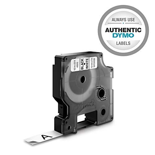 (DYMO Standard D1 45013 Labeling Tape ( Black Print on White Tape , 1/2'' W x 23' L , 1 Cartridge), DYMO)