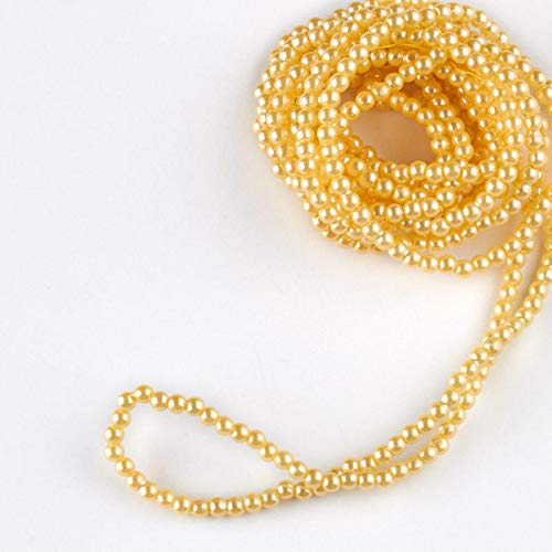 Factory Direct Craft Ivory Simulated Pearl String Beads - True Vintage | 3 Pieces ()