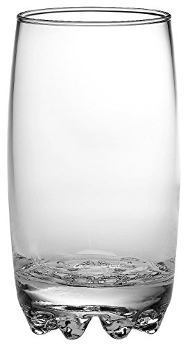 Highball Glass Rocco Bormioli Glass - Bormioli Rocco Galassia Highball Tumbler Juice Drinking Glasses   14oz Beverage Cups   Made In Italy   Set of 3   Stackable & Dishwasher Safe (14oz)