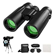 #LightningDeal Usogood 12X50 Binoculars for Adults with Tripod, Waterproof Compact Binoculars for Bird Watching, Hiking, Traveling, Hunting and Sports Events, Smart Phone Adaptor for Photography