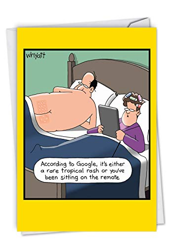 NobleWorks - Remote Rash - Hilarious Happy Birthday Greeting Card for Husband, Dad, Men (with Envelope) C7013BDG