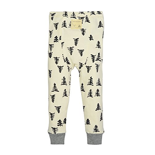 Burt's Bees Baby Baby Organic 2 Piece Pajama Set, Ivory Trees, 12 Months