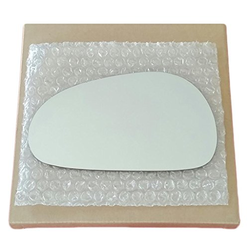 Mirror Glass and Adhesive 94-04 Ford Mustang Driver Left Side Replacement (Ford Mustang Left Door Mirror)