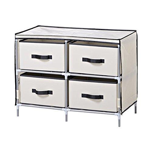 Homestar Beige Fabric 4-drawer Dresser