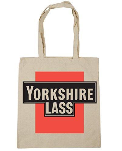 HippoWarehouse Yorkshire Mädel Einkaufstasche Fitnessstudio Strandtasche 42cm x38cm, 10 liter - Damen, Natürlich, One size