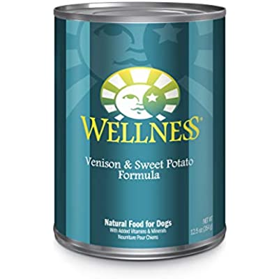 Wellness Complete Health Natural Wet Canned Dog Food Venison & Sweet Potato