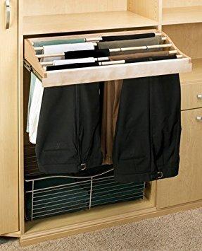 Rev-A-Shelf CWPR-3014-2 30'' Pants Rack, Natural