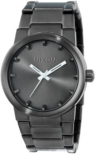 NIXON Cannon A164 - All Gunmetal - 104M Water Resistant Men's Analog Fashion Watch (39.5 mm Watch Face, 26-23 mm Stainless Steel Band) (Black Player Nixon)
