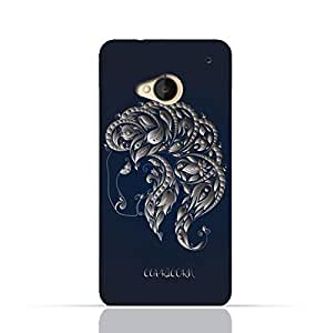 HTC ONE M7 TPU Silicone Case with Zodiac-Sign-Capricorn Design