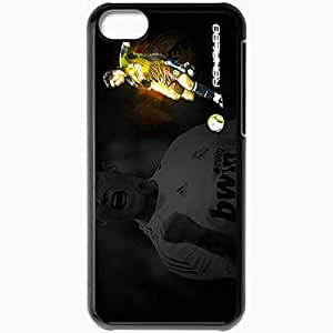 Personalized iPhone 5C Cell phone Case/Cover Skin Cristiano Ronaldo FIFA Portugal Football Federation Cristiano Ronaldo Real Madrid Football Black