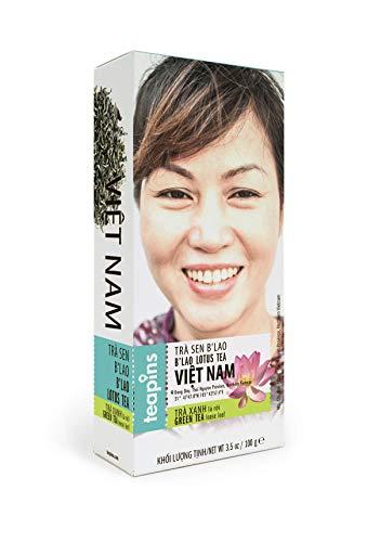Lotus Green Tea | Teapins Farmers Tea Natural Tea Premium Loose Leaf Tea, Feel the Elegance of Sacred Lotus Plant - 100g ()