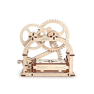 S.T.E.A.M. Line Toys UGears Models 3-D Wooden Puzzle - Mechanical Box / Business Card Holder: Toys & Games