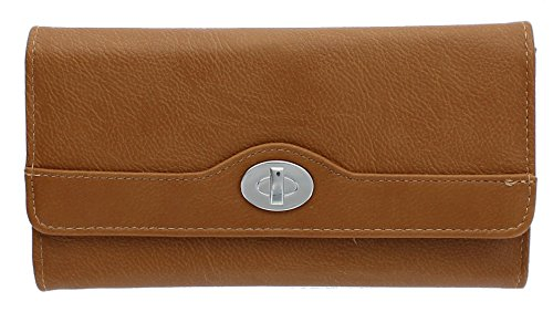 mundi-file-master-pebble-pattern-womens-wallet-clutch-organizer-with-zipper-pockets-luggage