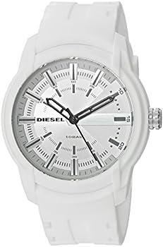 Diesel Men's Armbar Silicone Three-Hand Watch with 2Yr Warranty